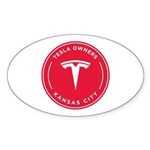 Tesla Owners Club KC Sticker (Oval 50 pk)