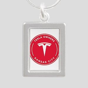 Tesla Owners Club KC Silver Portrait Necklace