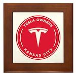 Tesla Owners Club KC Framed Tile
