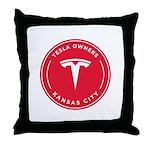 Tesla Owners Club KC Throw Pillow
