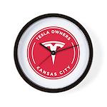 Tesla Owners Club KC Wall Clock