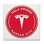 Tesla Owners Club KC Tile Coaster
