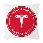 Tesla Owners Club KC Woven Throw Pillow