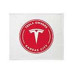 Tesla Owners Club KC Throw Blanket