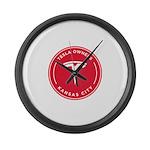 Tesla Owners Club KC Large Wall Clock