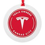 Tesla Owners Club KC Round Ornament