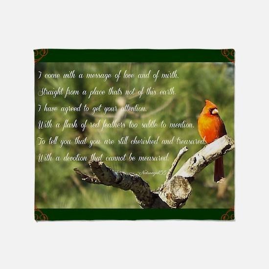 Cardinal Message Throw Blanket
