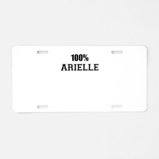 100% ARIELLE Aluminum License Plate