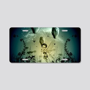 The wonderworld, playing fairy Aluminum License Pl