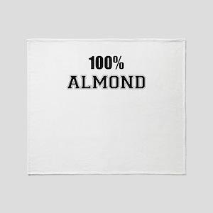 100% ALMOND Throw Blanket
