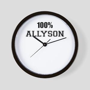 100% ALLYSON Wall Clock