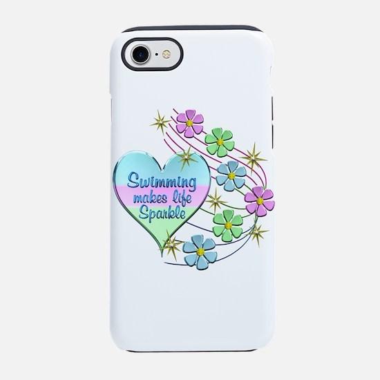Swimming Sparkles iPhone 8/7 Tough Case