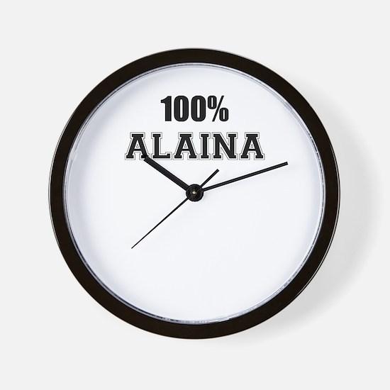 100% ALAINA Wall Clock