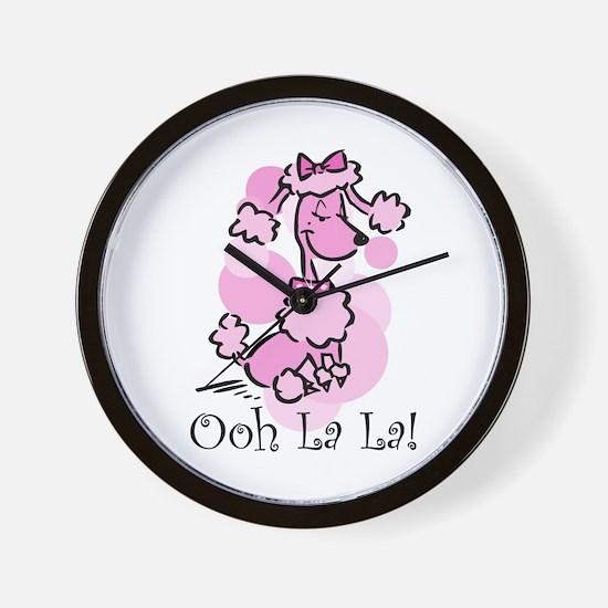 Ooh La La Poodle Wall Clock