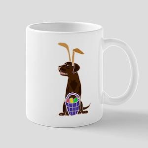 Chocolate Labrador Easter Mugs