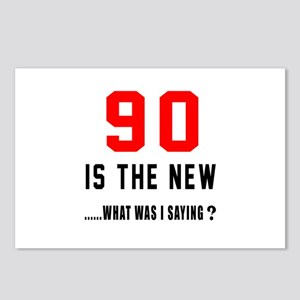90 Is The New What Was I Postcards (Package of 8)