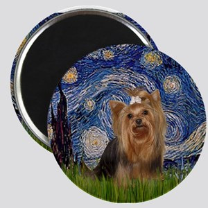 Starry Night & Yorkie #7 Magnet