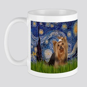 Starry Night & Yorkie #7 Mug