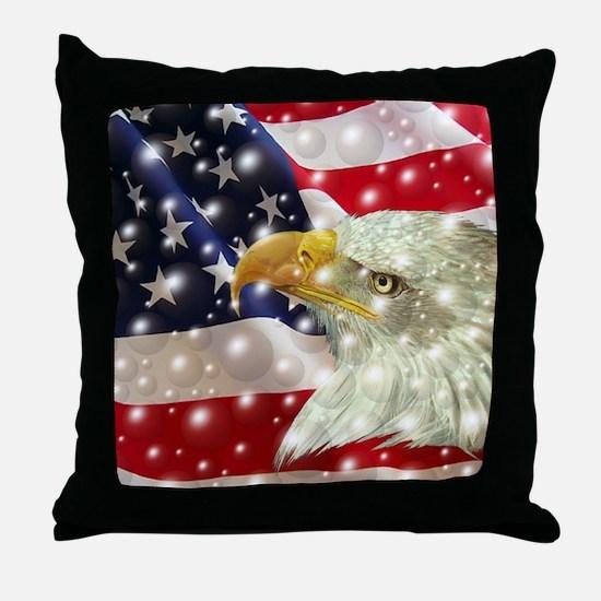 Unique American bald eagles Throw Pillow
