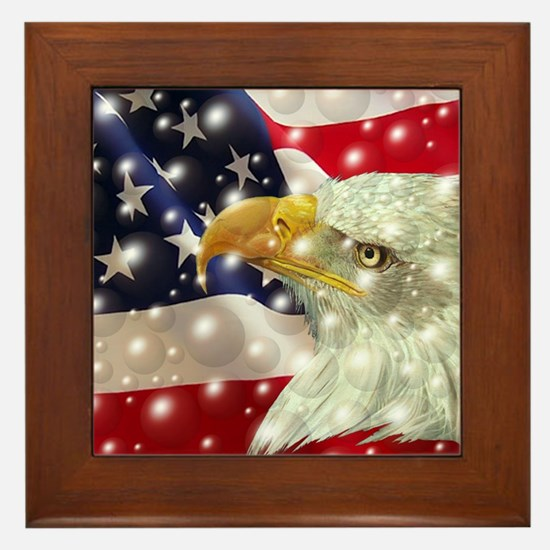 Funny Eagles Framed Tile
