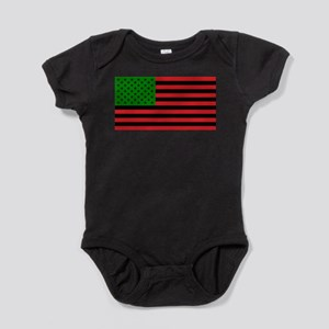 African American Flag - Red Black an Baby Bodysuit