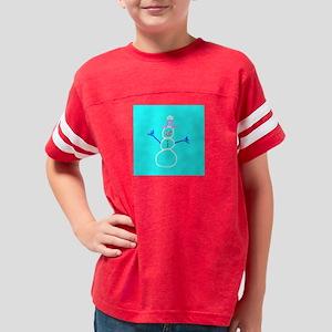 Turquoise Blue Snowman Designer T-Shirt