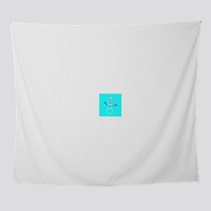 Turquoise Blue Snowman 4Ann Wall Tapestry