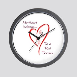 Rat HeartBelongs Wall Clock