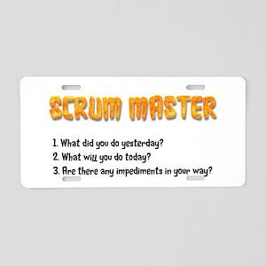 Scrum Master Sprint Questio Aluminum License Plate