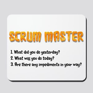 Scrum Master Sprint Questions Mousepad