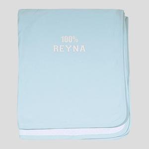 100% REYNA baby blanket