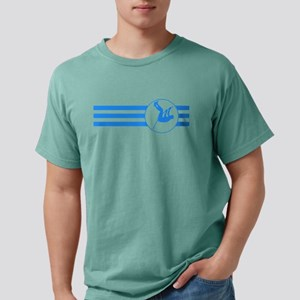 Pole Vaulter Stripes (Blue) T-Shirt