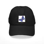 Blue Butterfly Black Cap