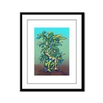 Green Man Rising Framed Panel Print