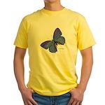 Blue Butterfly Yellow T-Shirt