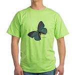 Blue Butterfly Green T-Shirt
