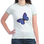 Blue Butterfly Jr. Ringer T-shirt
