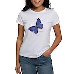 Blue Butterfly (Front) Women's T-Shirt