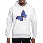 Blue Butterfly (Front) Hooded Sweatshirt