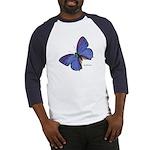 Blue Butterfly (Front) Baseball Jersey
