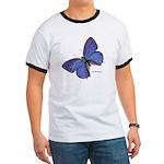 Blue Butterfly Ringer T