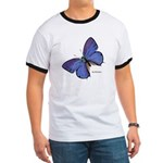 Blue Butterfly (Front) Ringer T
