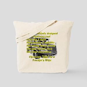 Truckers Wife She design Tote Bag