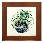 Green Man Cradling Earth Framed Tile