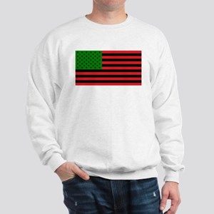 African American Flag - Red Black and G Sweatshirt