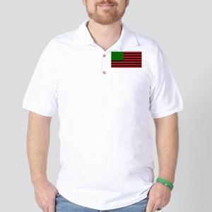 African American Flag - Red Black and G Golf Shirt