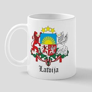 Latvia Arms with Name Mug
