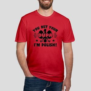 Funny Polish Dupa Men's Fitted T-Shirt (dark)