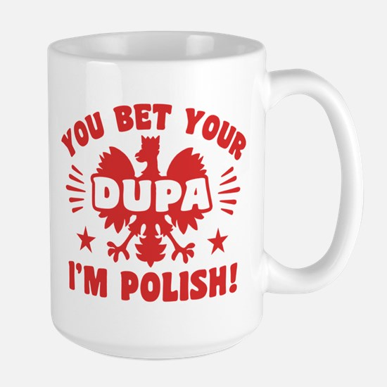 Funny Polish Dupa Large Mug