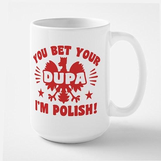 Funny Polish Dupa Large Mug